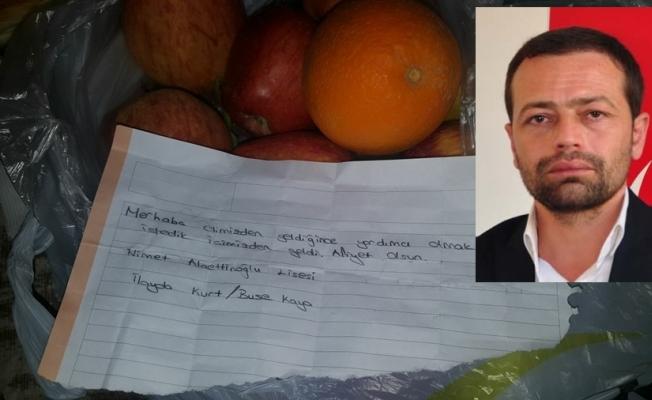 Uygur'dan koca yürekli öğrencilere teşekkür