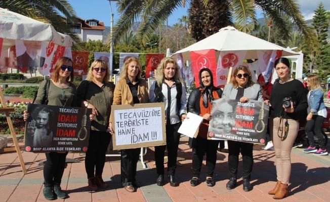 MHP'den 'tecavüze  idam' kampanyası