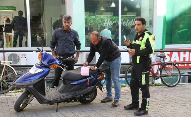 Alanya polisi motosiklet avında