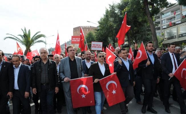 Binlerce vatandaş  Afrin için yürüdü
