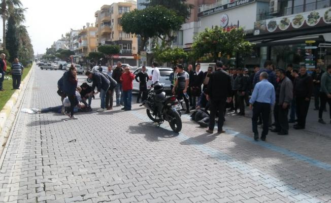 Motosiklet kazası: 3 yaralı