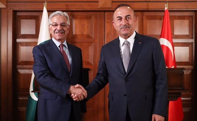 Çavuşoğlu ve Asıf Keşmir'i konuştu