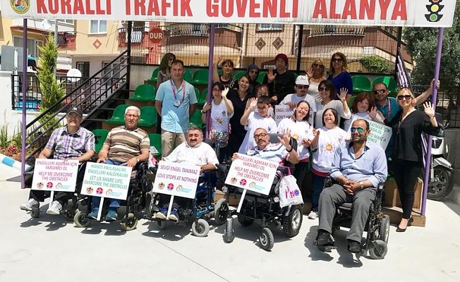 Engelli bireyler Trafik Eğitim Parkı'nı ziyaret etti