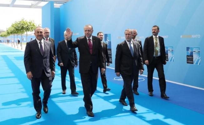 Erdoğan'a Brüksel'de Çavuşoğlu eşlik etti