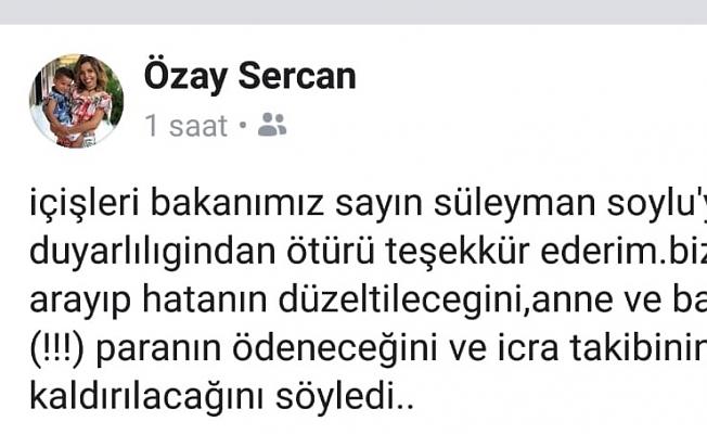 İçişleri Bakanı Süleyman Soylu,  şehit eşinin yüreğine su serpti