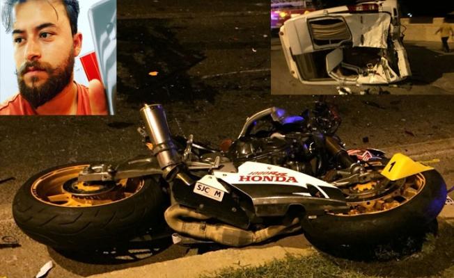 Motosiklet minibüse arkadan çarptı: 1 ölü, 2 yaralı