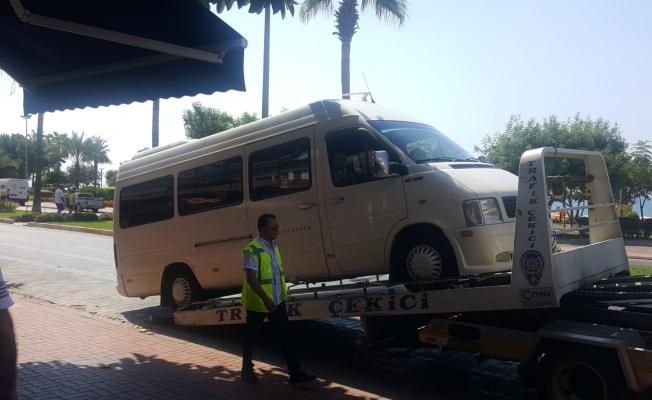 Turist taşıyan minibüs yönelik denetim