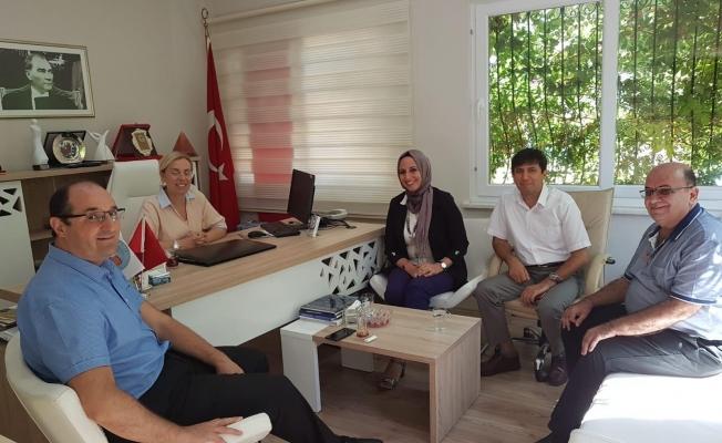 ALKÜ heyetinden Özcan'a ziyaret
