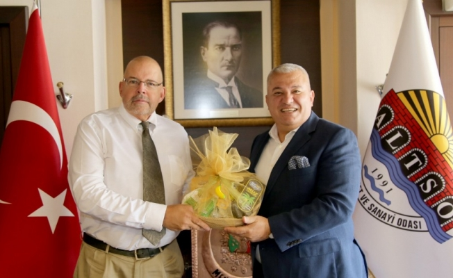 Letonya Büyükelçisi  Şahin'i ziyaret etti!