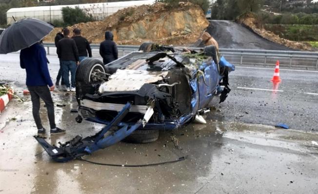 Alanya'da feci kaza yürekleri ağza getirdi