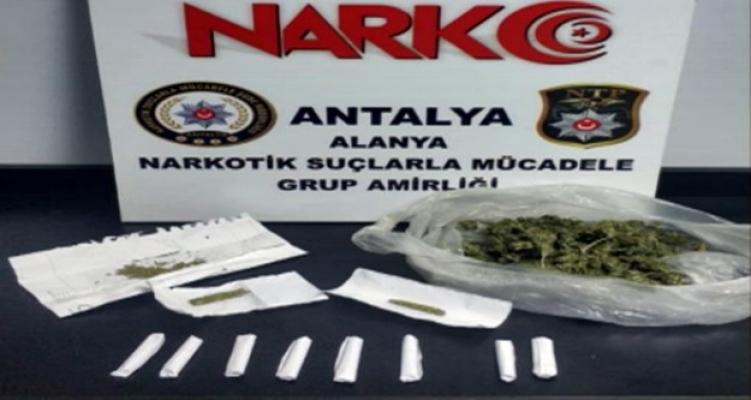 Alanya'da üniversite öğrencisi uyuşturucu satıcı çıktı!