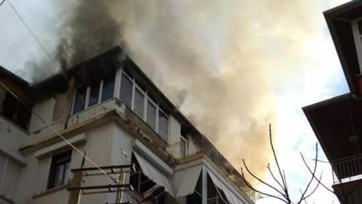 Alanya'da ev yangını korkuttu!