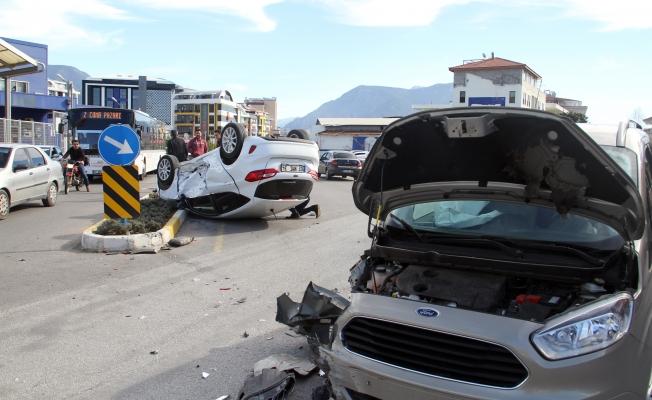 Alanya'da bu kazadan sağ kurtuldular!