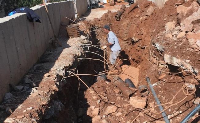 Alanya'da ASAT ekipleri alt yapı sorununu bitiriyor