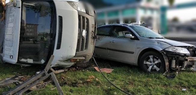 Alanya'da korkunç kaza! 1 yaralı