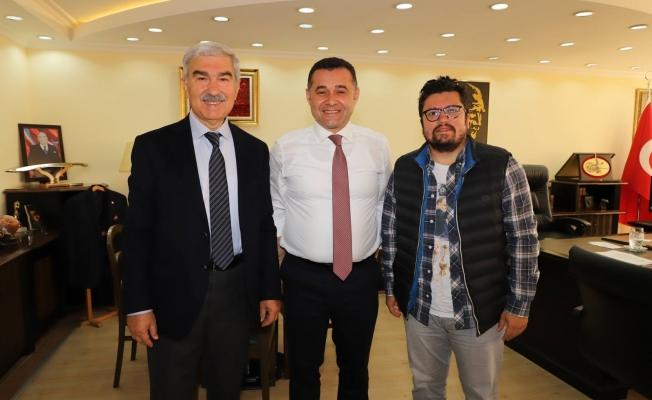 Zamanoğlu ve Aydoğan'dan Yücel'e hayırlı olsun ziyareti