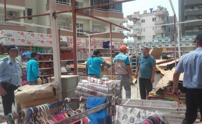 Alanya Belediyesi'nin kaçakla mücadelesi sürüyor