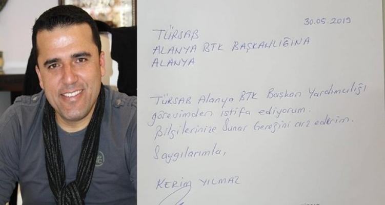 Alanya TÜRSAB'ta istifa şoku!