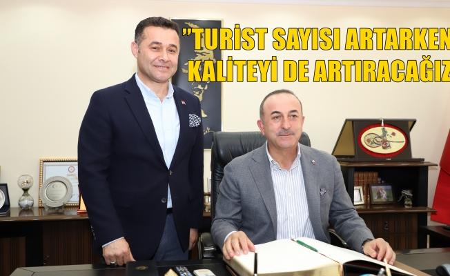 Bakan Çavuşoğlu, Başkan Yücel'i ziyaret etti