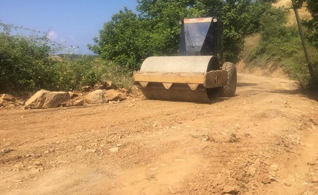 Yeşilöz'de asfalt hazırlığı