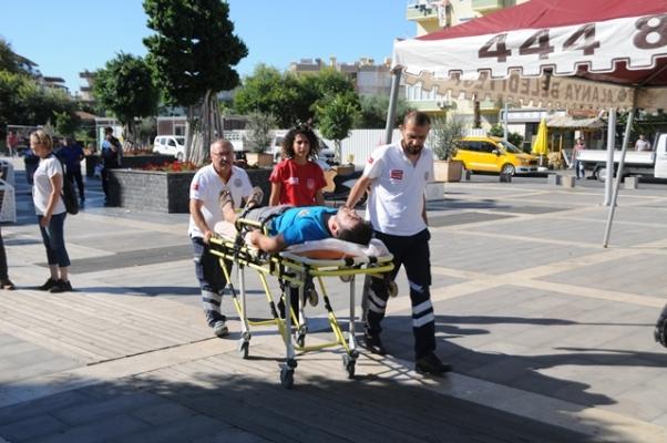 Alanya'da belediye işçisine sopalı meydan dayağı