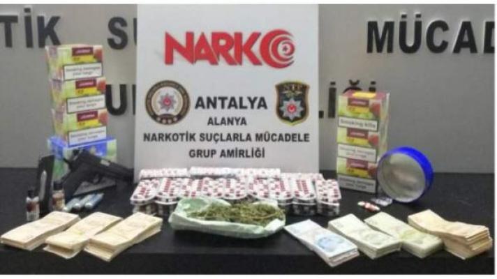 Alanya'da uyuşturucu baskını!