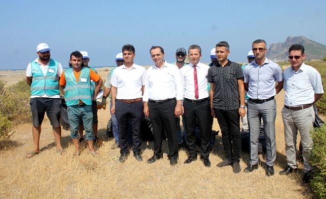 Gazipaşa'da hükümlüler çevre temizliği yaptı