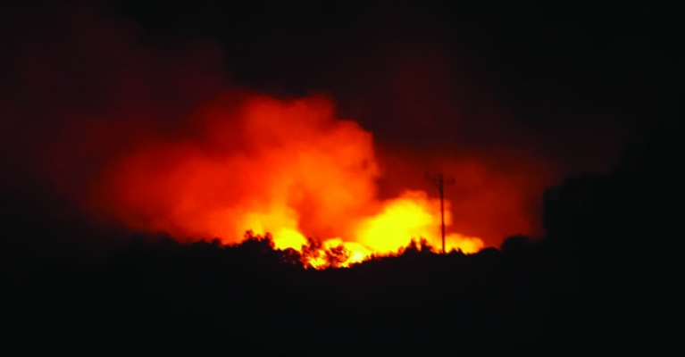 Gündoğmuş'ta orman yangını!