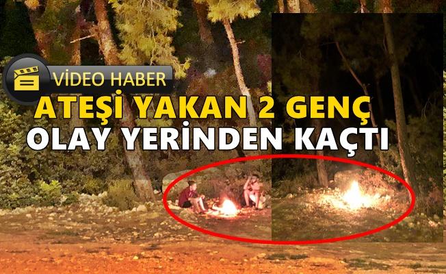 Alanya'da ormanlık alanda yakılan ateş ortalığı ayağa kaldırdı!