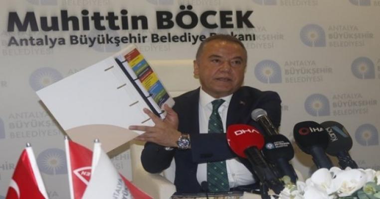 Başkan Böcek, Cumhurbaşkanından 200 milyonluk borçlanma yetkisinin onayını aldı