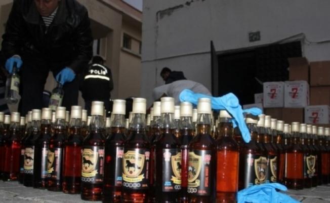 Sahte içki operasyonunda 1 tutuklama