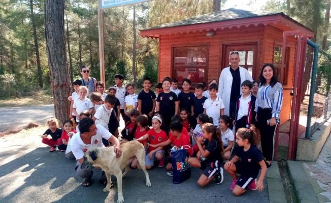 Alanya'da öğrencilerden barınağa rekor mama bağışı