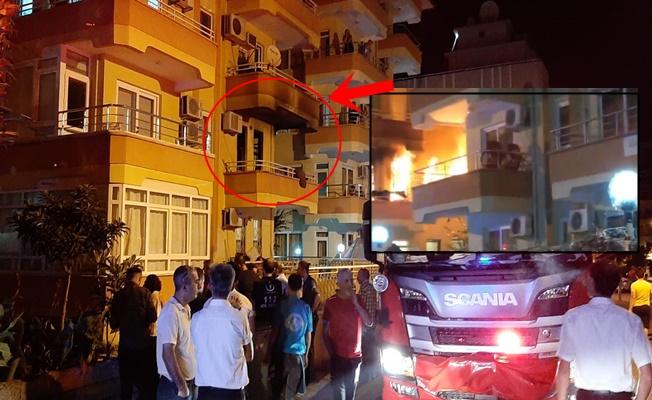 Alanya'da bir ev çıkan yangında kül oldu!