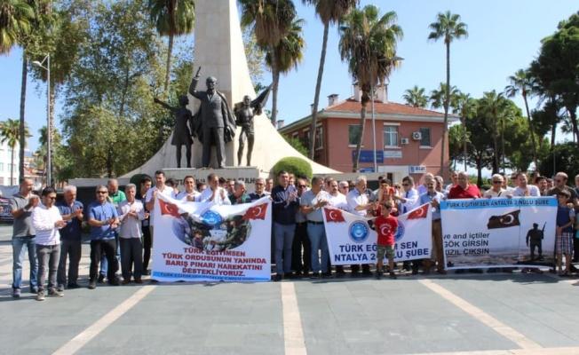 Alanya'da Mehmetçik'e destek için toplantılar