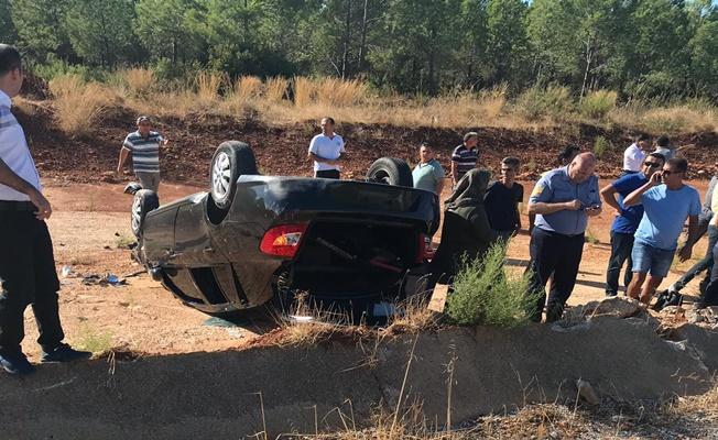 Askeri araç takla attı: 2 yaralı