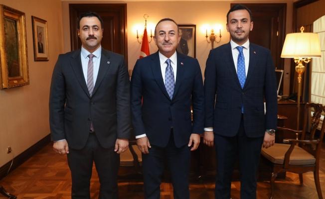 Bakan Çavuşoğlu, Rektör Kalan ve Toklu'yu ağırladı