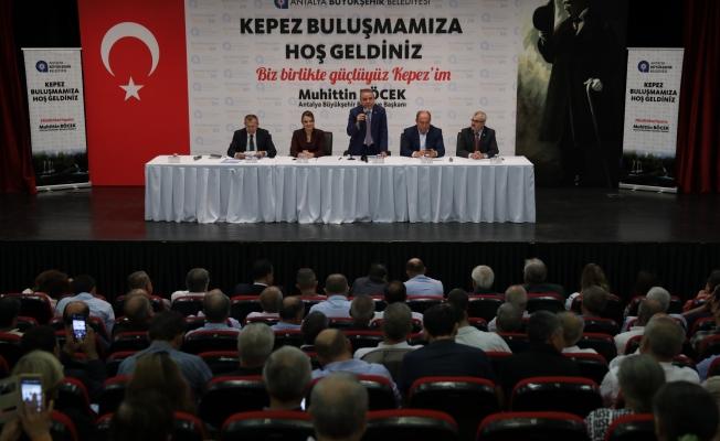 """Başkan Böcek """"Antalya halkının bize verdiği oyları helal ettireceğiz"""""""