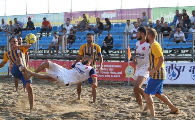 Plaj Futbolu'nda Türkiye Şampiyonası Finalleri başladı