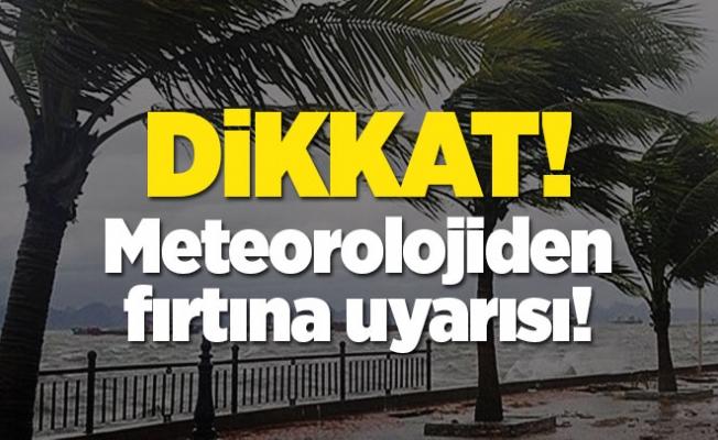 Alanya'da sağanak yağış ve fırtına uyarısı