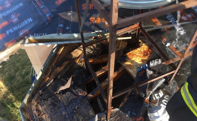 Çatı izolasyonu yangına sebep oldu