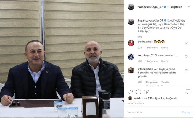Çavuşoğlu: Köylüyüz ve yörüğüz!
