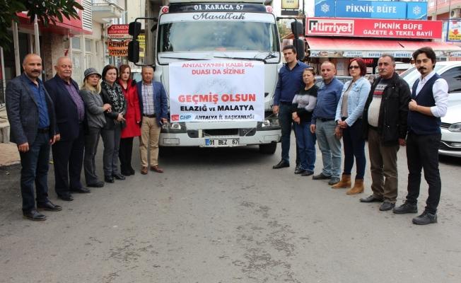 CHP Antalya'dan Elazığ'a yardım