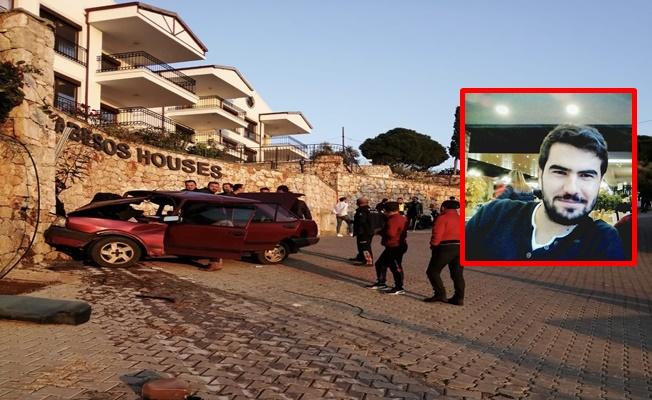 Freni boşalan otomobil duvara çarptı: 1 ölü, 1 yaralı