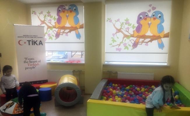 TİKA, Ukrayna'daki bir klinikte duyusal odaların açılışını yaptı