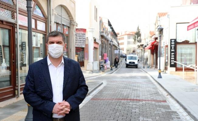 Burdur'da sokaklar dezenfekte edildi