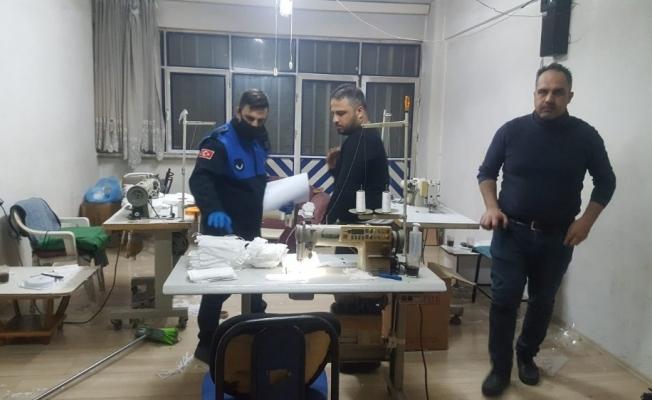 Bursa'da merdiven altı maske üretimine şok baskın