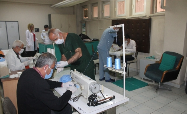 Diyarbakır'da bir hastane daha kendi maskesini üretmeye başladı