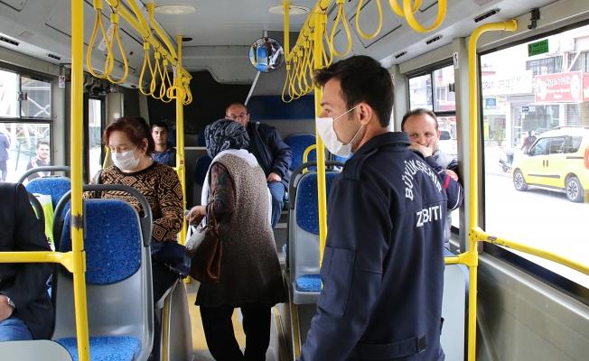 Toplu taşıma araçlarında sosyal mesafe denetimi