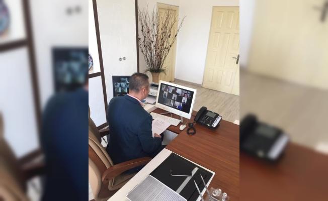 Alanya'da okul müdürleri online toplantı yaptı!