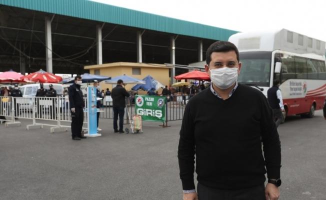 Kepez'de ücretsiz maske